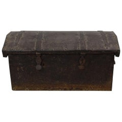 17th-18th Century Spanish Iron with Wood Strongbox