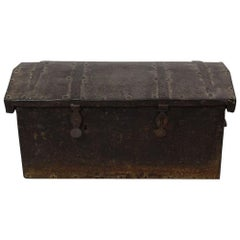 17th-18th Century Spanish Iron with Wood Strongbox