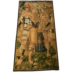 17th Century Brussels Tapestry of Roman Soldiers with Shields and Armor