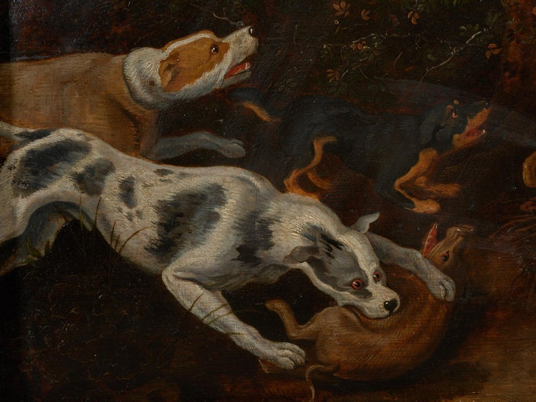 18th Century and Earlier 17th Century Flemish Shool Antwerp Wild Boar Hunt in the Style of Frans Snijders For Sale