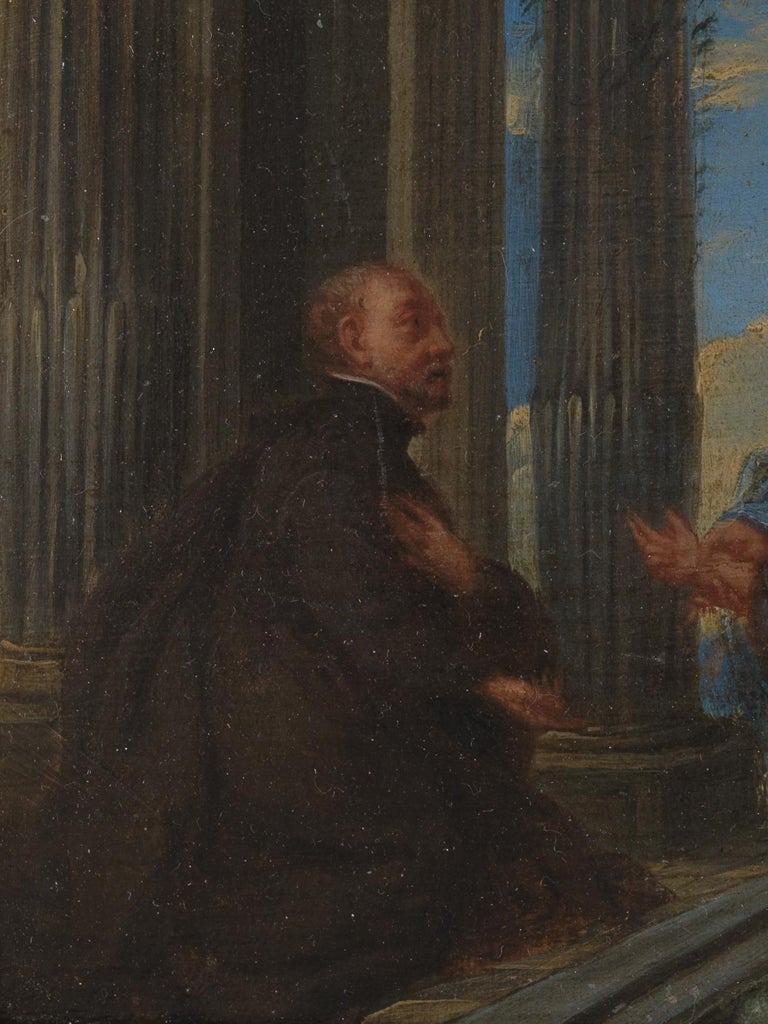 17th Century Flemish Shool 'monogram IG or LG', Maria and Christ, Oil on Panel In Good Condition For Sale In Leuven , BE