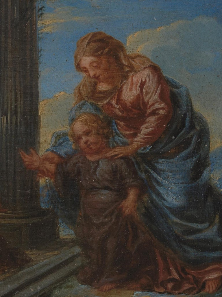 18th Century and Earlier 17th Century Flemish Shool 'monogram IG or LG', Maria and Christ, Oil on Panel For Sale
