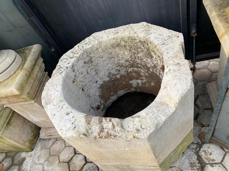 Wellhead Hand Carved Stone Container Planter Basin Trough Water Feature For Sale 4