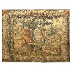17th Century Brussels Mythological Tapestry Persephone from the History of Ceres