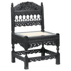 17th Cent. Dutch Colonial Ebony Chair Formerly Owned by the Duke of Westminster