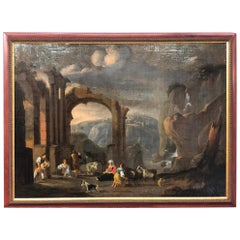 17th Century an Important Signed Flemish Painting