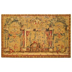17th Century Antique French Beauvais Grotesque Tapestry