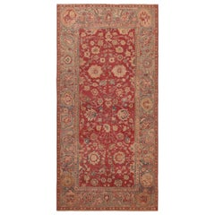 17th Century Antique Indian Mughal Rug 6 ft 7 in x 13 ft