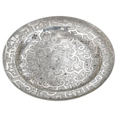 17th Century Antique Spanish Silver Plate