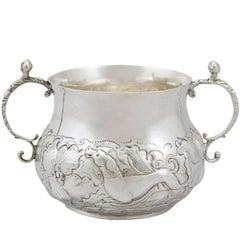 17th Century Antique Sterling Silver Porringer