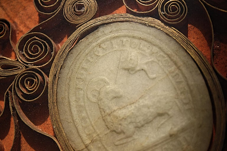 17th Century Antonio Pignatelli Wax Seal Pope Innocent XII For Sale 1