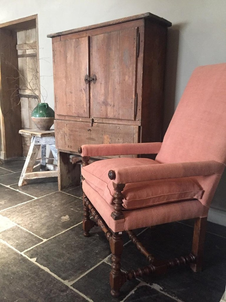Baroque 17th Century Armchair For Sale