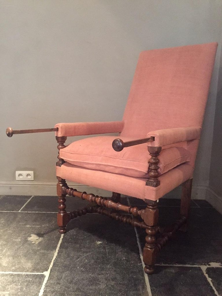 French 17th Century Armchair For Sale