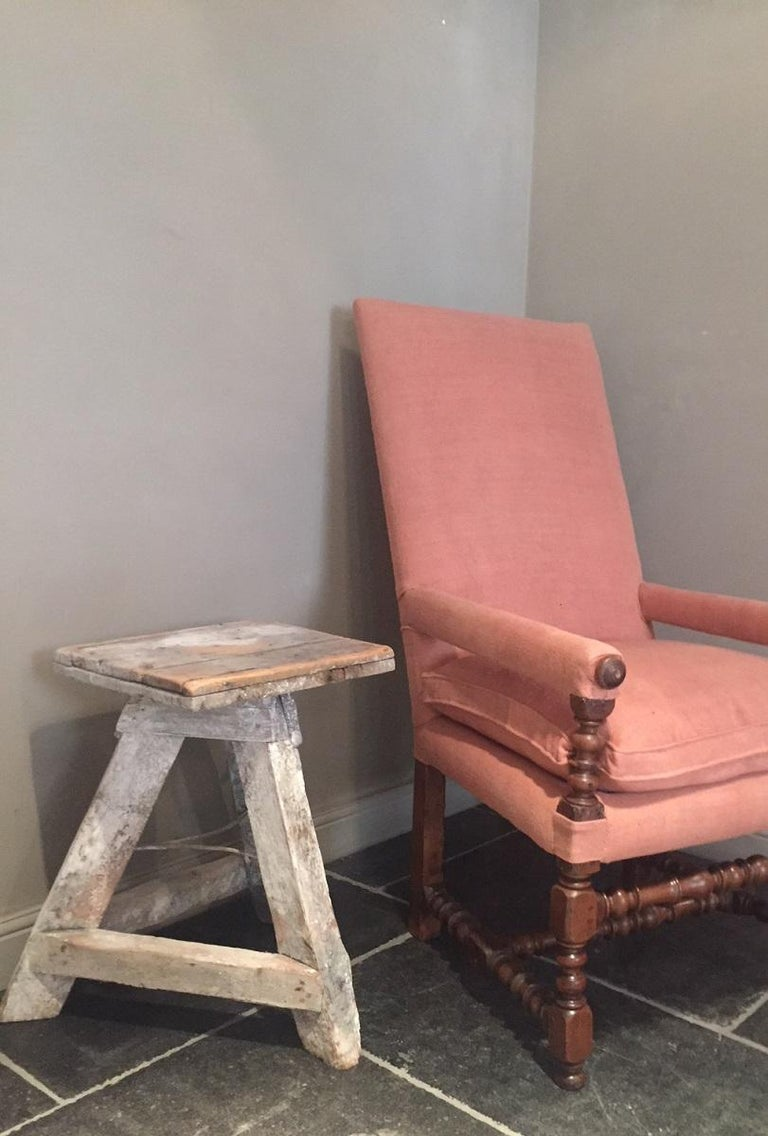 Hand-Crafted 17th Century Armchair For Sale