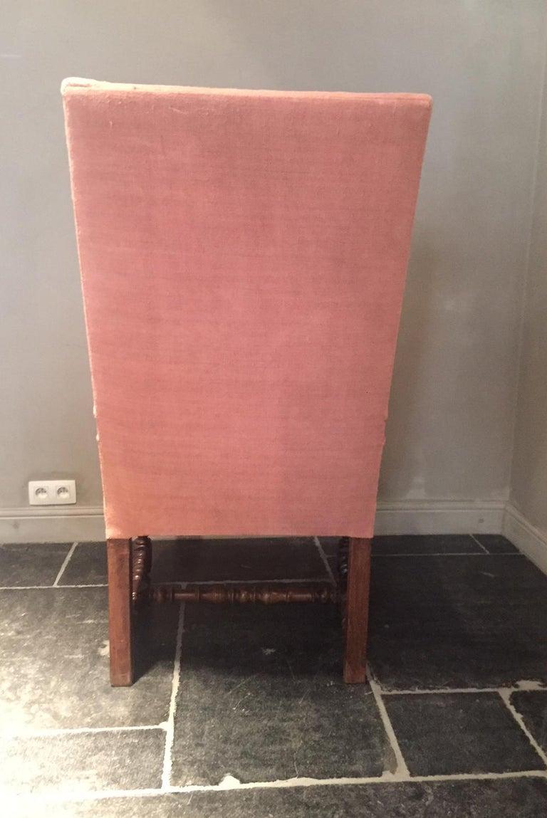 Walnut 17th Century Armchair For Sale