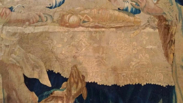 17th Century Aubusson French Antique Tapestry For Sale 5
