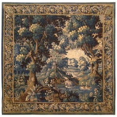 17th Century Aubusson Verdure Landscape Tapestry
