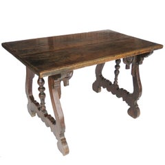 17th Century Baroque Walnut Trestle Table