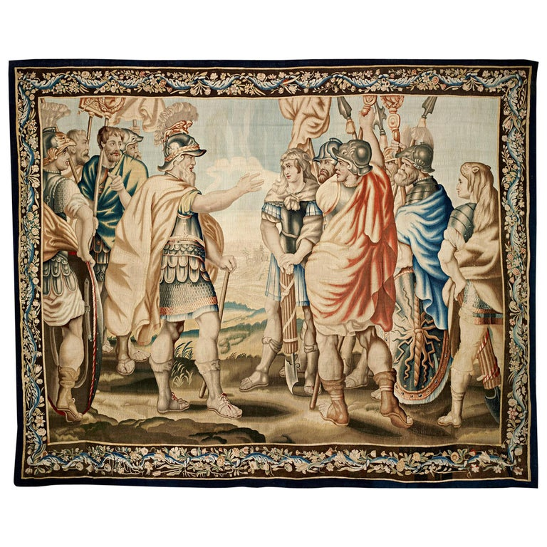 Belgian tapestry, 17th century, offered by M.S. Rau Antiques