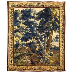 17th Century Brussels Verdure Landscape Tapestry in Chinoiserie Style