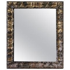 17th Century Carved Gold Leaf Italian Mirror