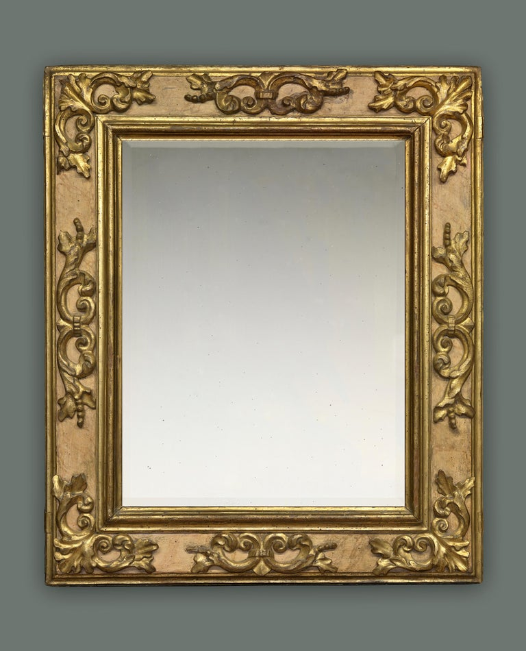 Hand-Carved 17th Century Carved Italian Baroque Cassetta Frame, with Choice of Mirror For Sale