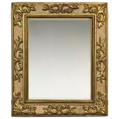 17th Century Carved Italian Baroque Cassetta Frame, with Choice of Mirror