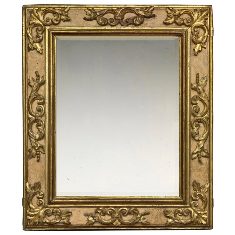 17th Century Carved Italian Baroque Cassetta Frame, with Choice of Mirror For Sale