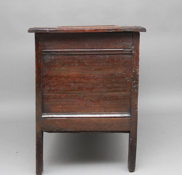 Late 17th Century 17th Century Carved Oak Coffer For Sale