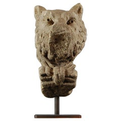 17th Century Carved Stone Lion Fragment