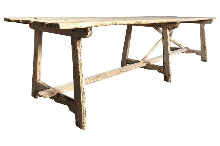 Spanish 17th Century Catalan Farm Table For Sale
