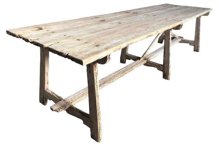 17th Century Catalan Farm Table In Good Condition For Sale In Atlanta, GA
