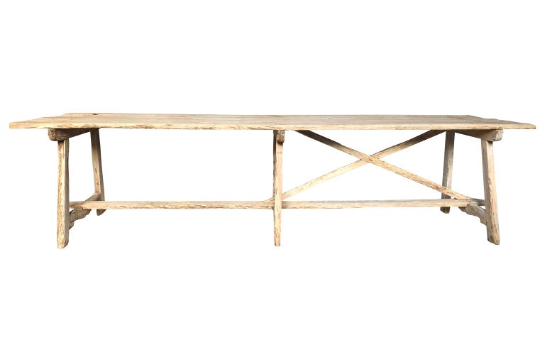 18th Century and Earlier 17th Century Catalan Farm Table For Sale