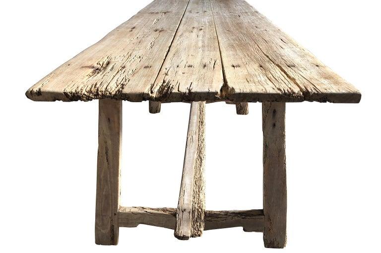 Fruitwood 17th Century Catalan Farm Table For Sale