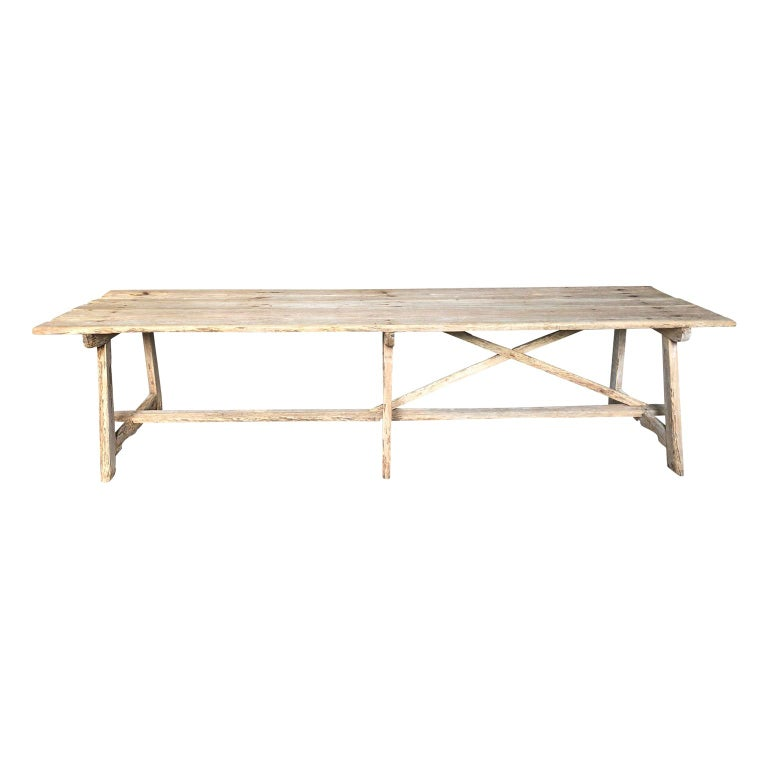17th Century Catalan Farm Table For Sale