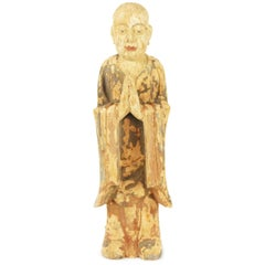 17th Century Chinese Standing Figure of a Buddhist Monk