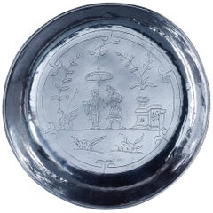 17th Century Chinoiserie Silver Bowl