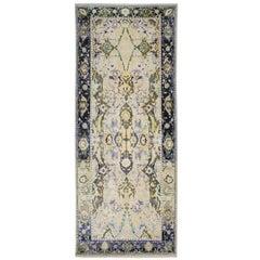 '17th Century Classic_Polonaise No. 09' Jaipur, Persian Knot Wool, Silk, Isfahan