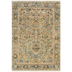 '17th Century Classic_Poloniase No.01' Wool and Silk Rug, Hand-Knotted in Jaipur