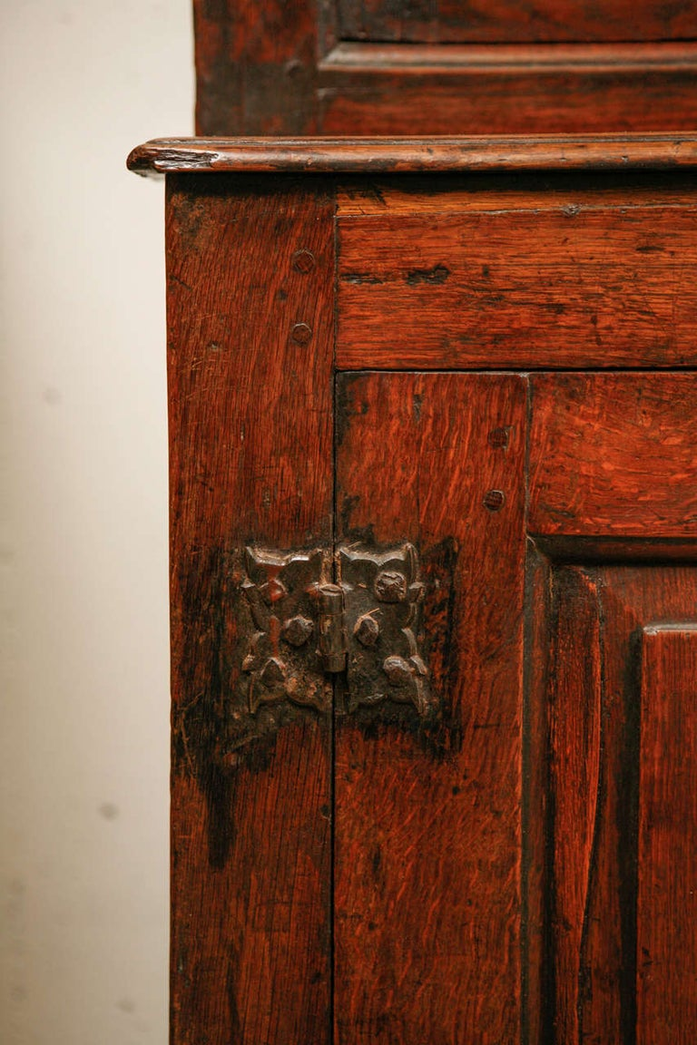 Late 17th Century 17th Century English Court Cupboard in Oak For Sale