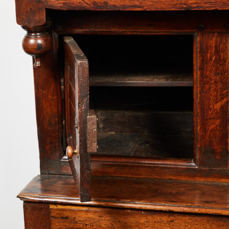 17th Century English Court Cupboard in Oak For Sale 3