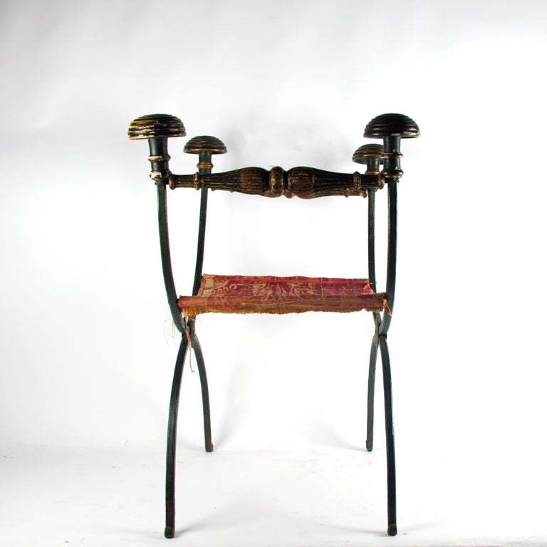 18th Century and Earlier 17th Century Curule Chair For Sale