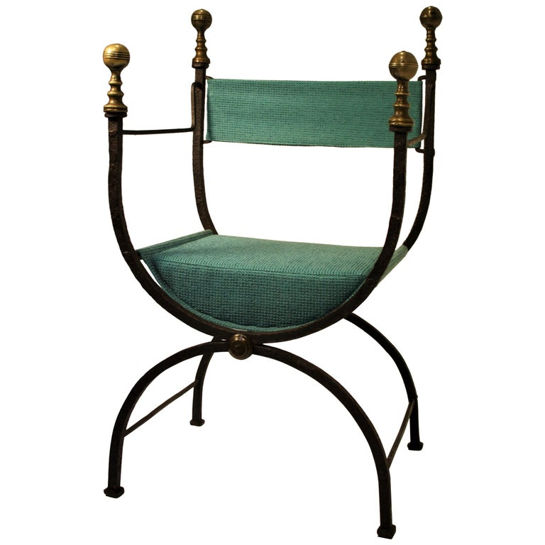 17th Century Curule Chair For Sale