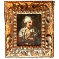 17th Century Dutch Flemish Old Master Tronie Oil on Panel Portrait Painting