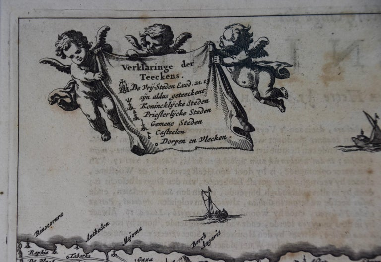 17th Century Dutch Map of the Holy Land at the Time of Jesus by Visscher For Sale 2