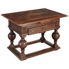 17th Century Dutch Oak Jacobean Table