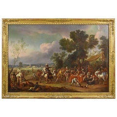17th Century, Dutch Oil on Canvas Painting with the Pay of Soldiers