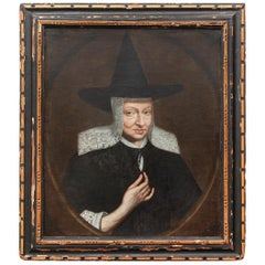 17th Century Dutch Portrait of a Woman in a Witch Hat