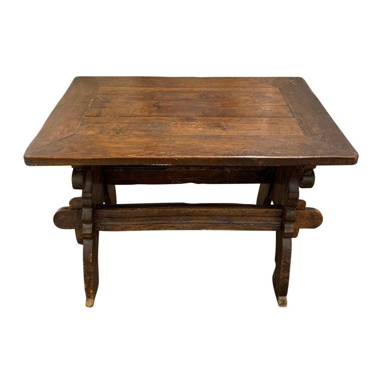 Baroque 17th Century Dutch Trestle Table For Sale