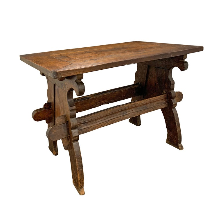 Oak 17th Century Dutch Trestle Table For Sale
